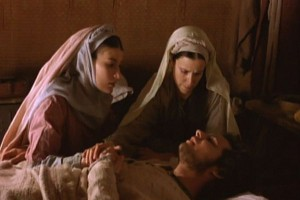 "Image Martha, Lazarus and Mary clipped from the movie, ""The Gospel of John"""