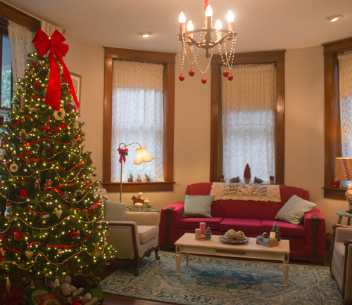 Christmas tree, parlor, Rockhaven B&B, Harpers Ferry